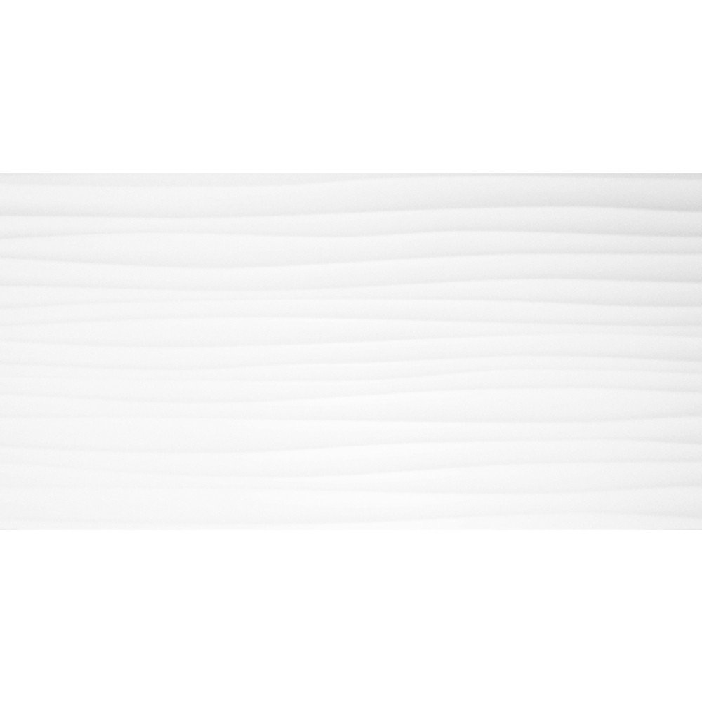 BCT Form Wave White Gloss 24.8cm x 49.8cm Ceramic Wall Tile - BCT19946