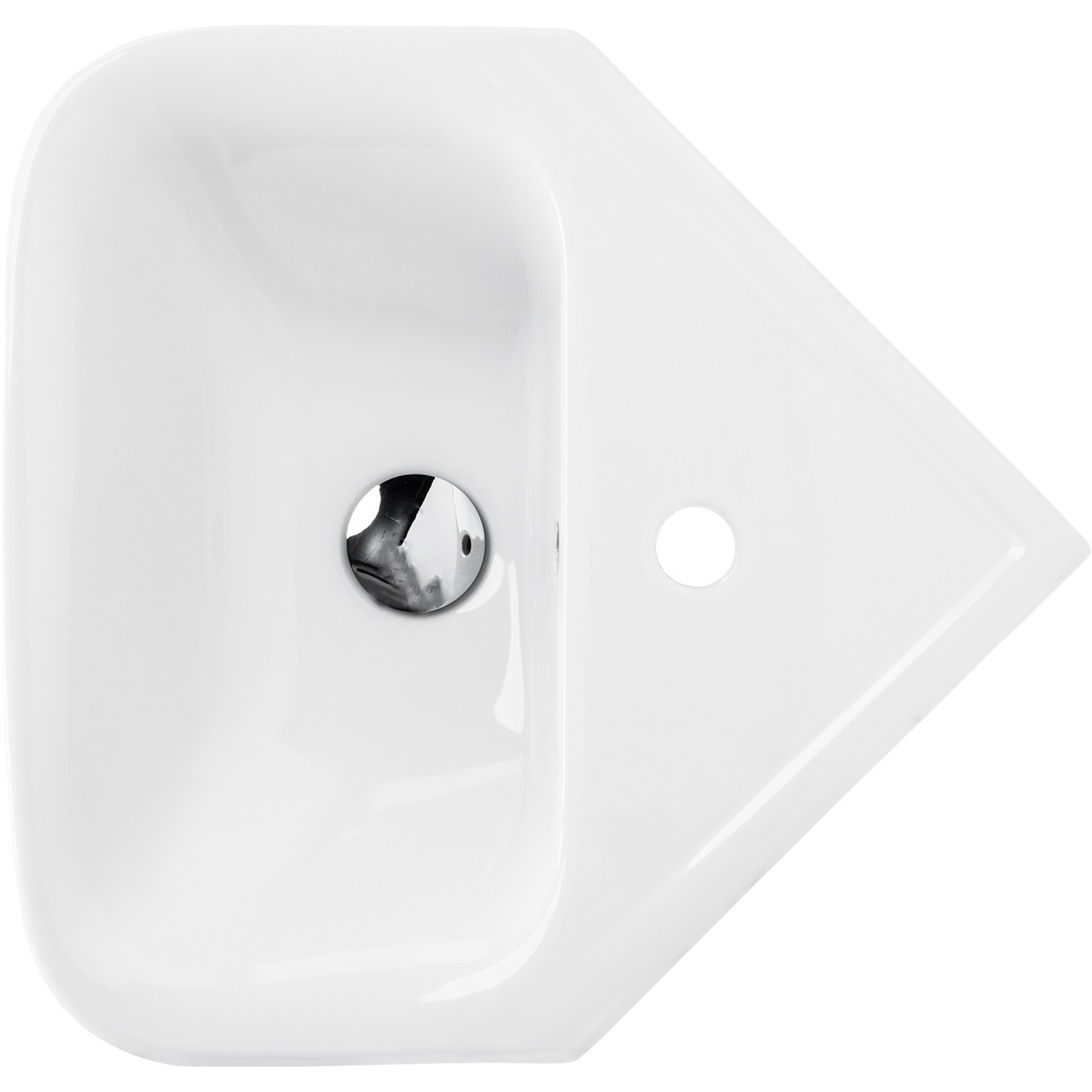 Forth Corner Basin with 1 Tap Hole and Full Pedestal