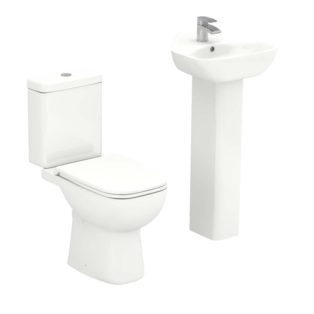 Forth Corner Full Pedestal Basin & Toilet Suite