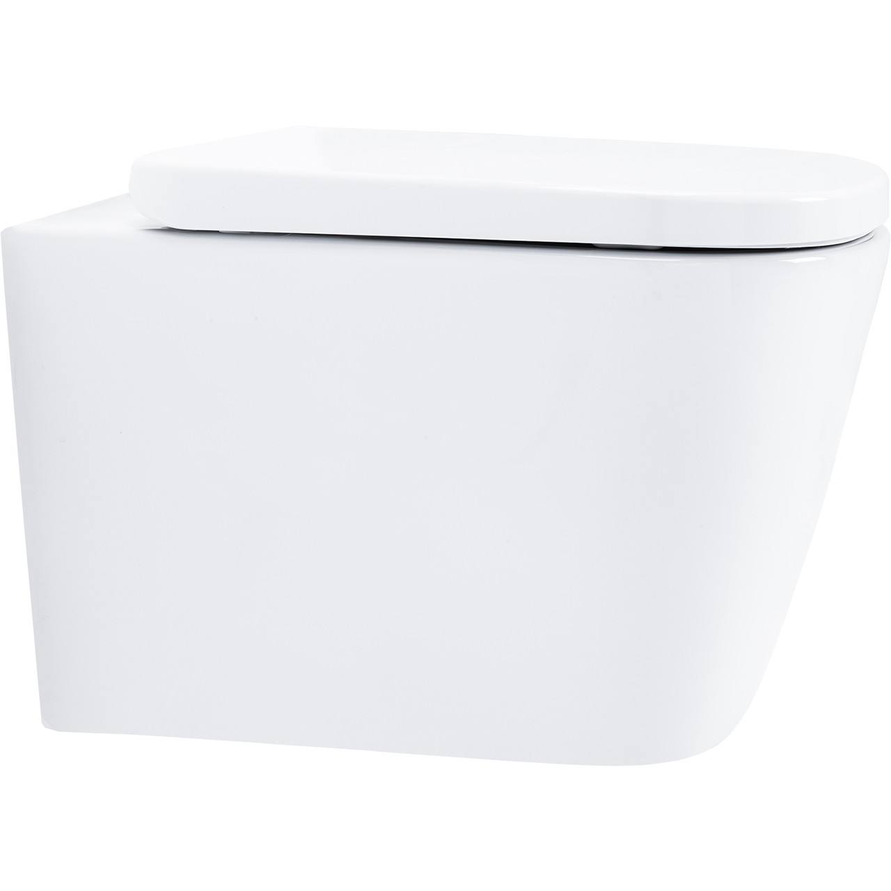 Galata Wall Hung Toilet with Slow Close Seat Side
