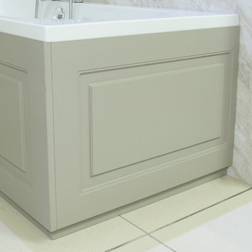 Windsor Traditional Grey 800 End Bath Panel & Plinth