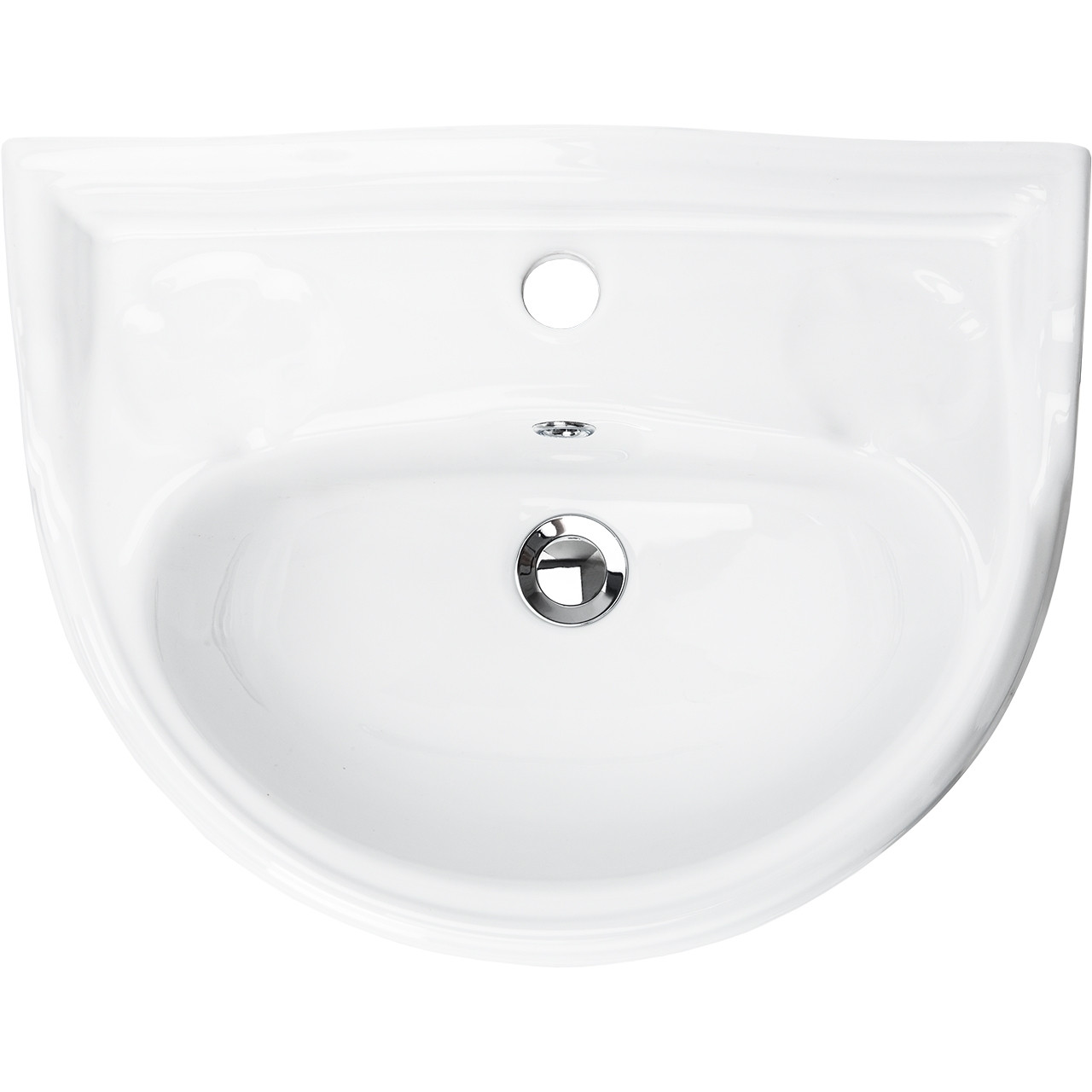 Grosvenor 500mm Basin with 1 Tap Hole and Full Pedestal