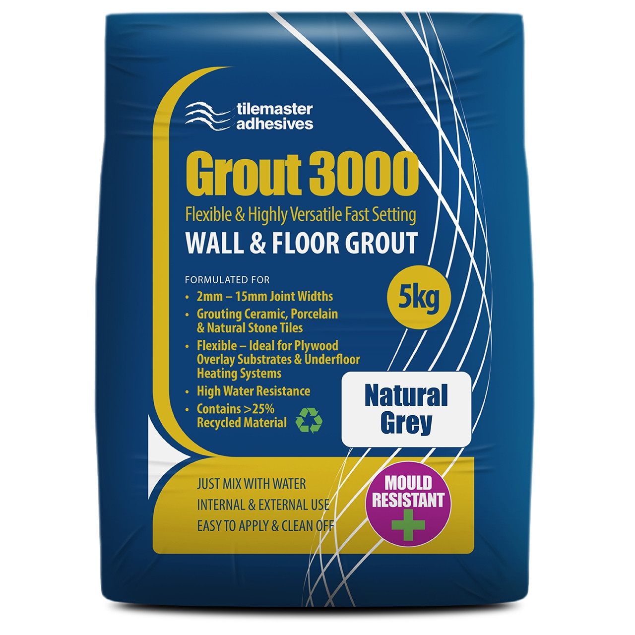 Tilemaster Grout 3000 - Natural Grey (5KG)