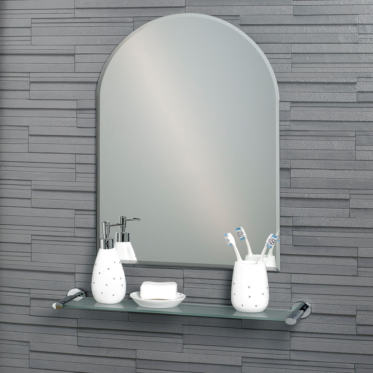 Hampton 600mm x 450mm Small Arched Mirror