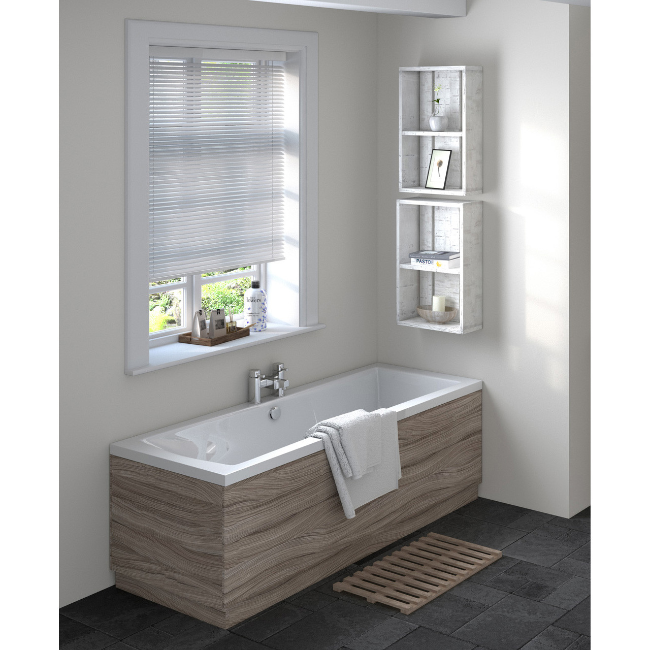 Hudson Reed 1700 Bath Front Panel 1695mm x 480/100mm - OFF277