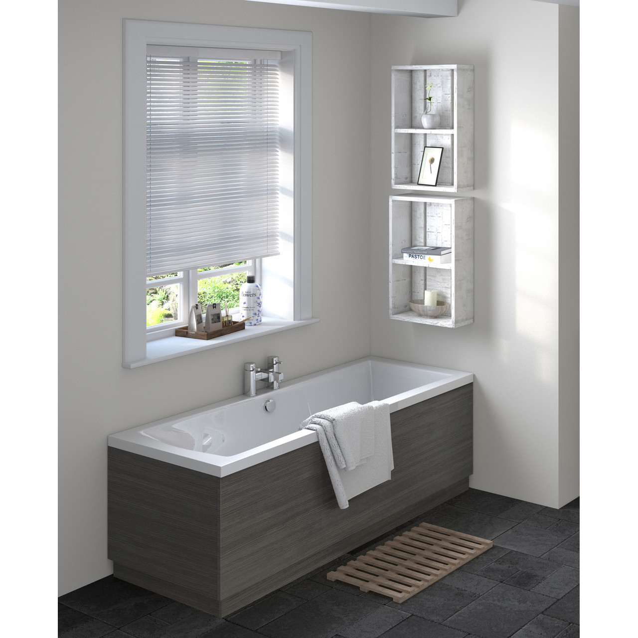 Hudson Reed 1700 Bath Front Panel 1695mm x 480/100mm - OFF677