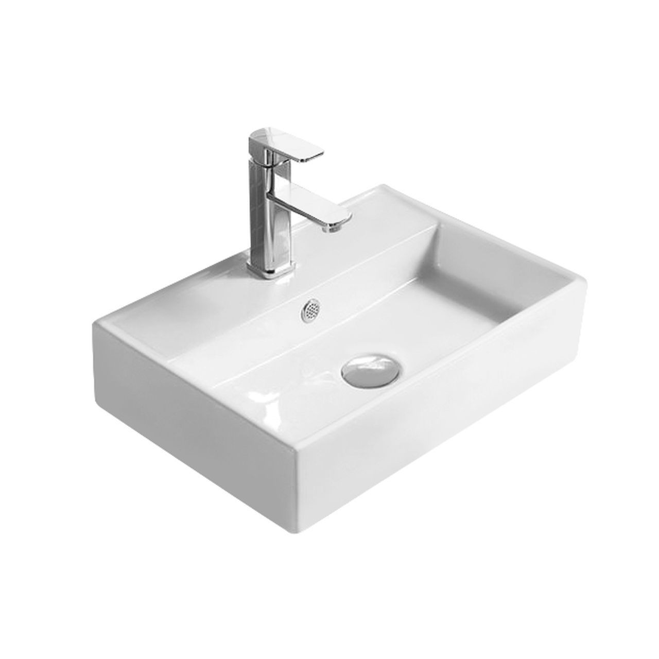 Hudson Reed 500mm x 350mm x 120mm Counter Top Basin with 1 Tap Hole - NBV178