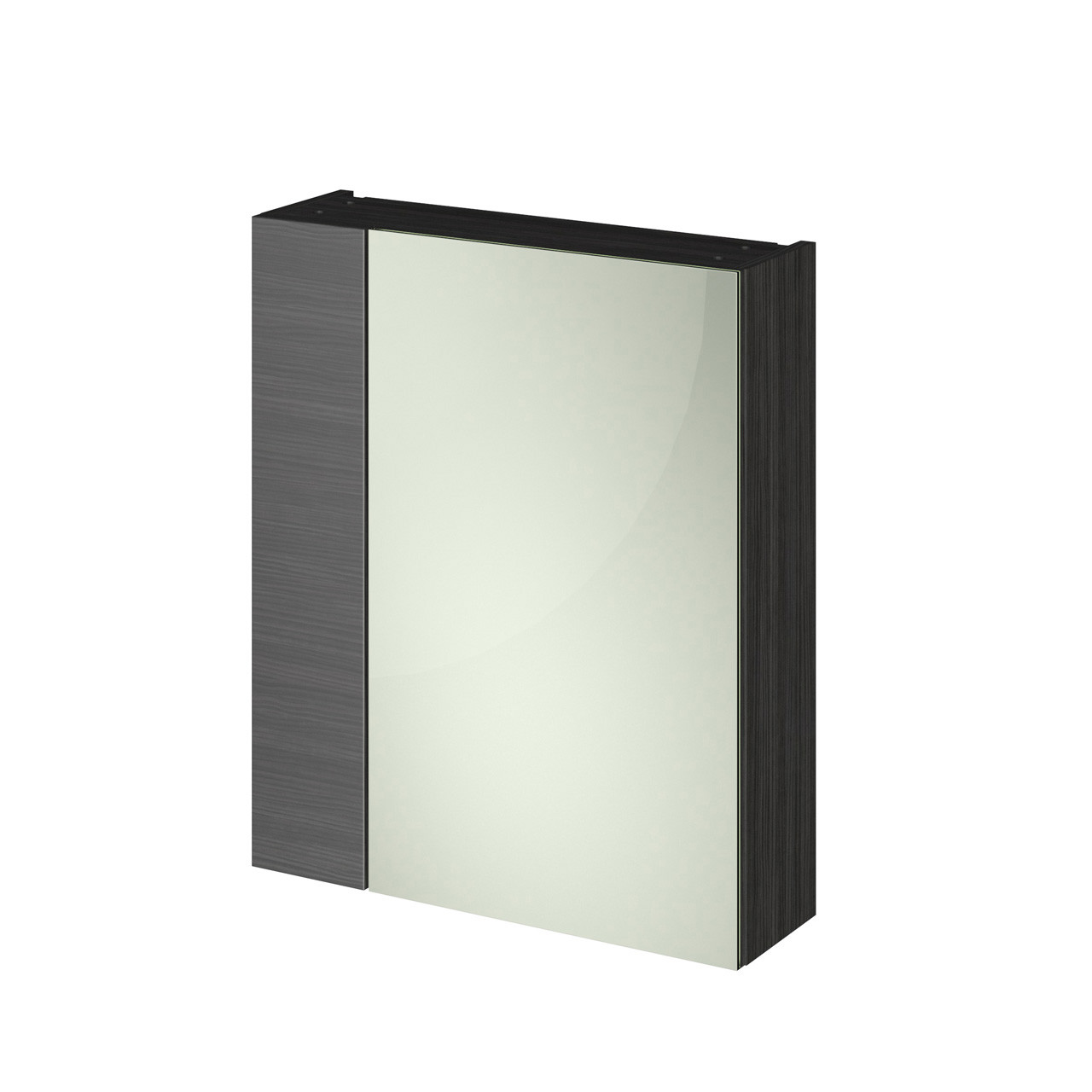 Hudson Reed 600 Fitted Mirror Unit (75/25) 715mm x 600mm x 182mm - OFF618