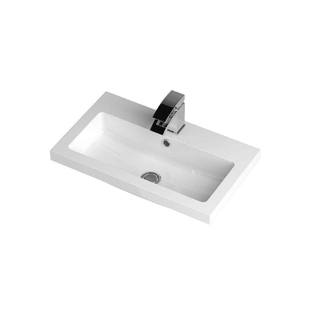 Hudson Reed 603mm x 355mm Polymarble Basin with 1 Tap Hole - PMB313