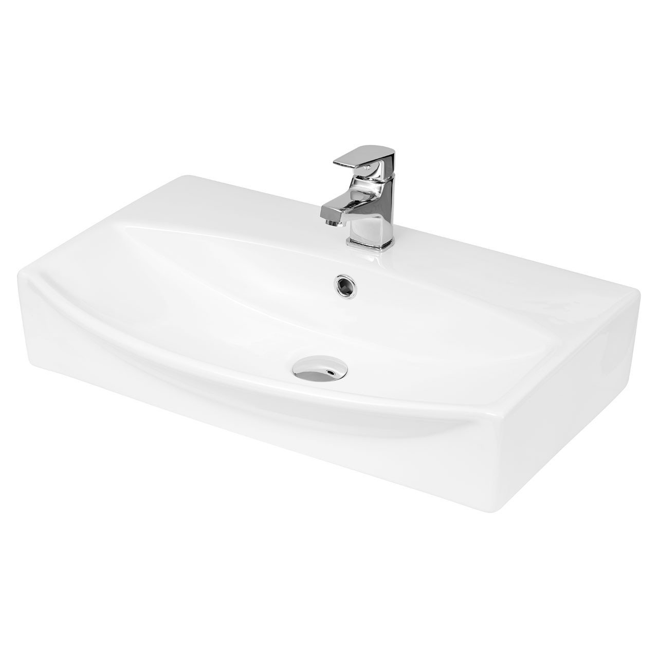 Hudson Reed 600mm x 400mm x 150mm Counter Top Basin with 1 Tap Hole - NBV165