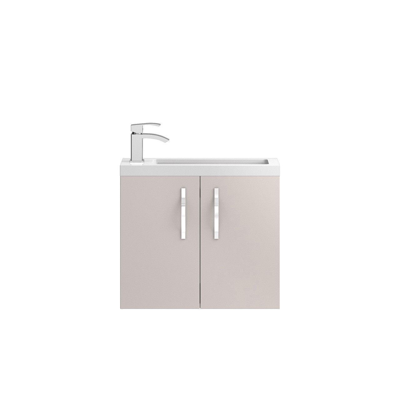 Hudson Reed Apollo Compact Cashmere Wall Hung 600mm Cabinet & Basin - FMA736C & PMB303