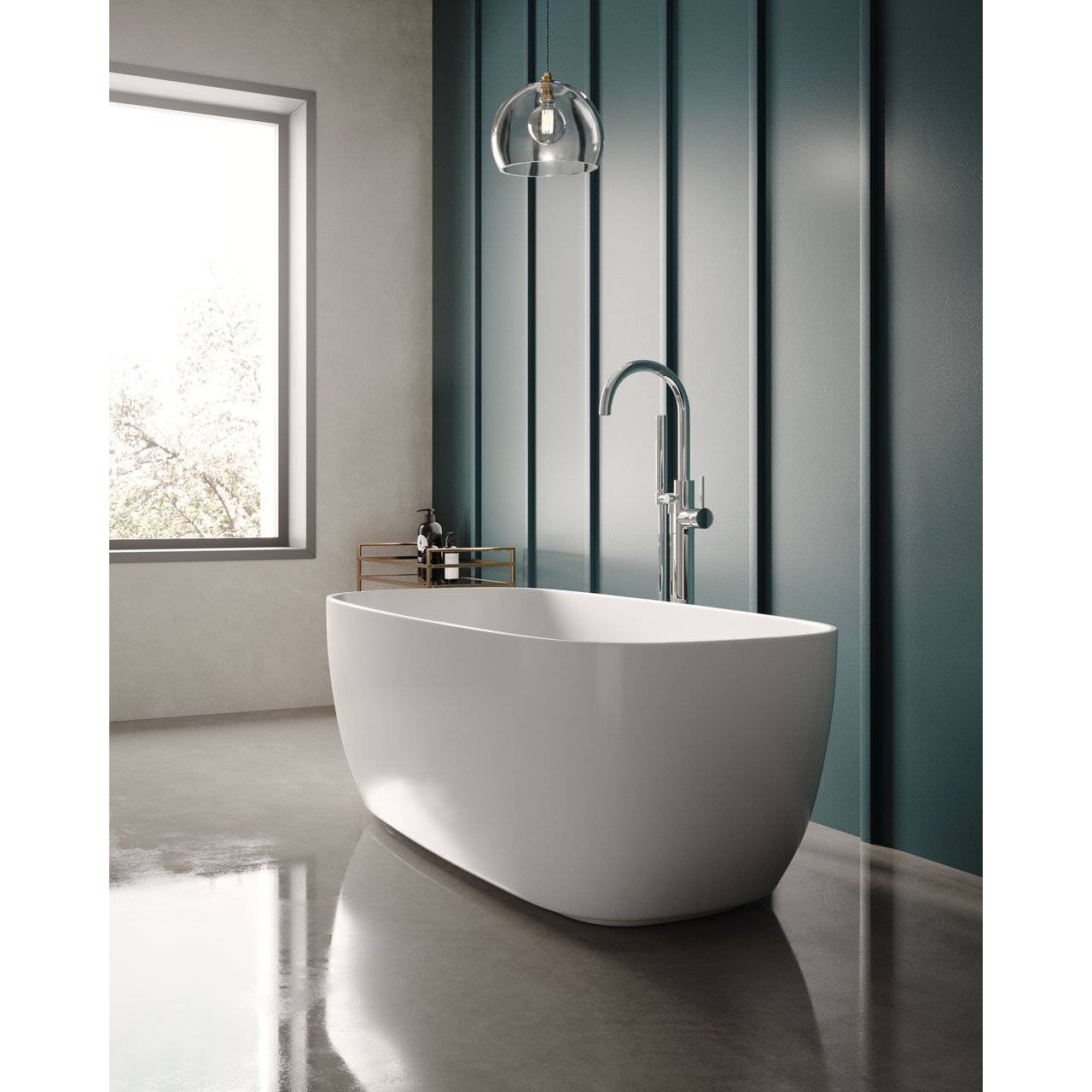 Hudson Reed Bella Rectangular 1495mm x 720mm Freestanding Bath - NBB003