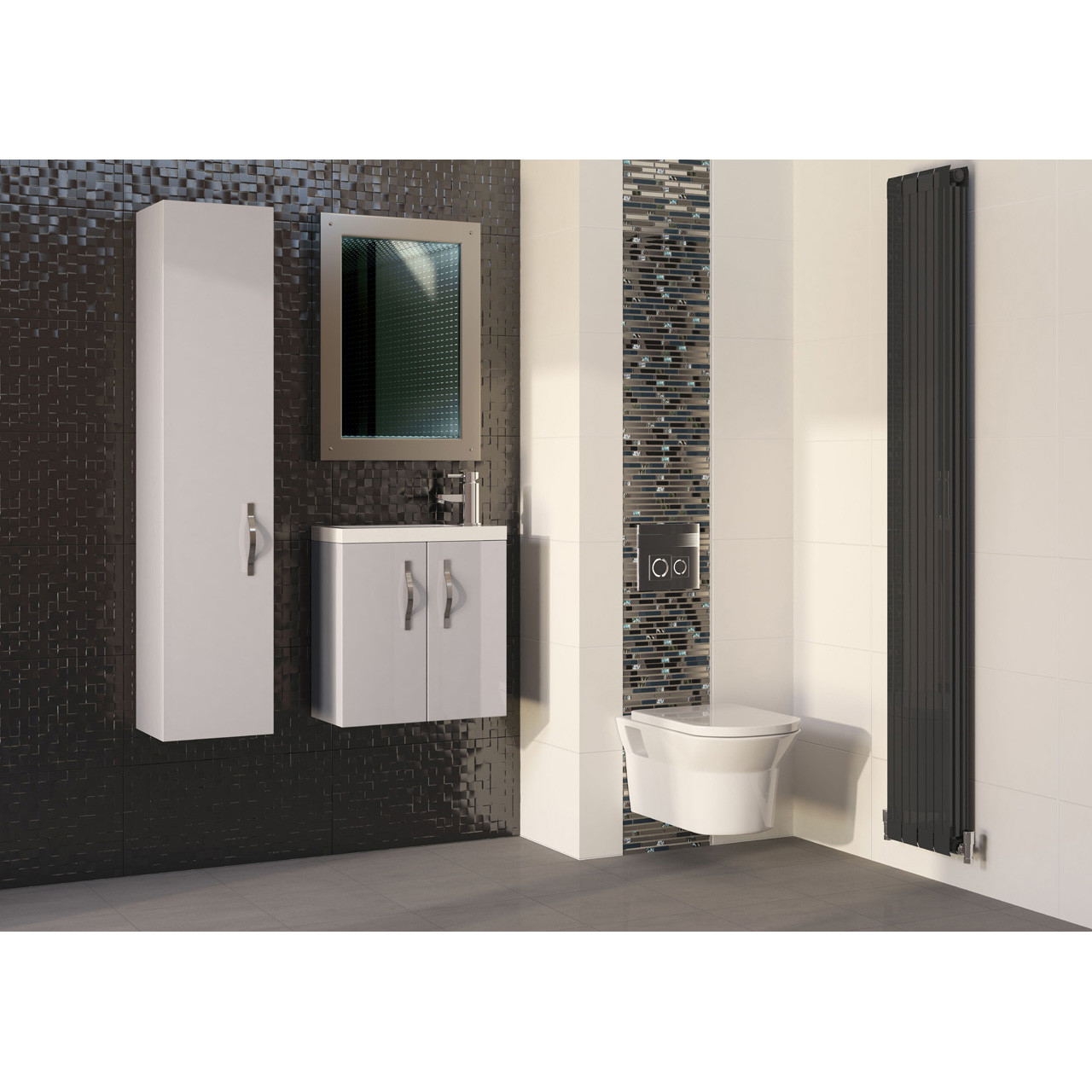 Hudson Reed Cashmere Gloss Apollo 300mm Wall Hung Tall Cabinet - FMA760