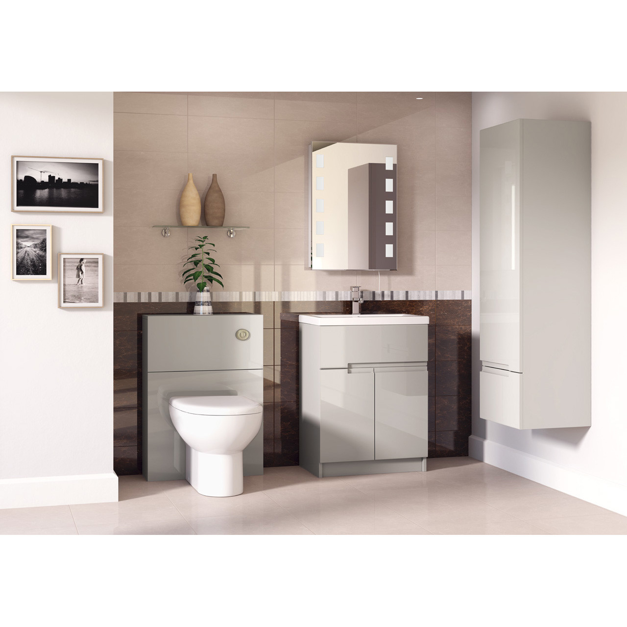 Hudson Reed Cashmere Gloss Urban 600mm WC Unit - FMU746C