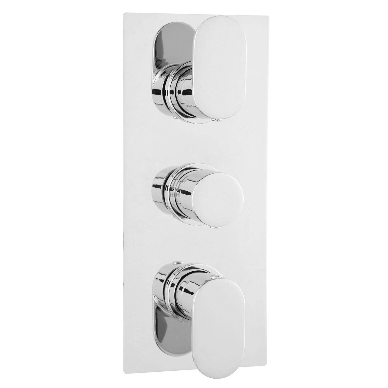 Hudson Reed Chrome Reign Thermostatic Triple Valve with Diverter - REI3617
