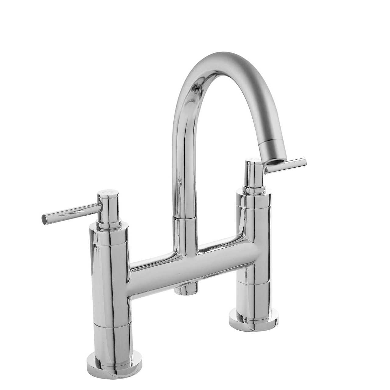 Hudson Reed Chrome Tec Lever Bath Filler - TEL353