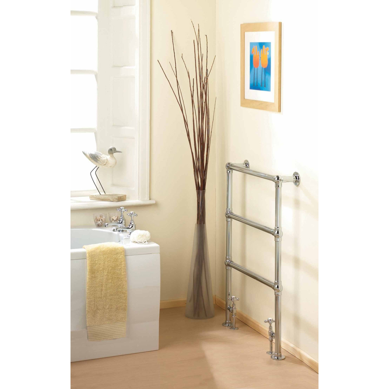 Hudson Reed Countess Heated Towel Rail 966mm x 676mm - HT301