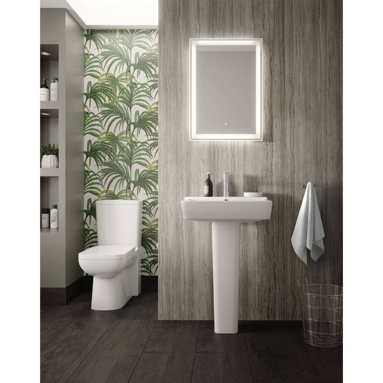 Hudson Reed Dazzle 500mm x 700mm LED Mirror - LQ085