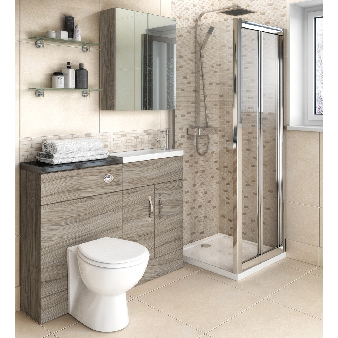 Hudson Reed Driftwood 400mm Vanity Unit - OFF204