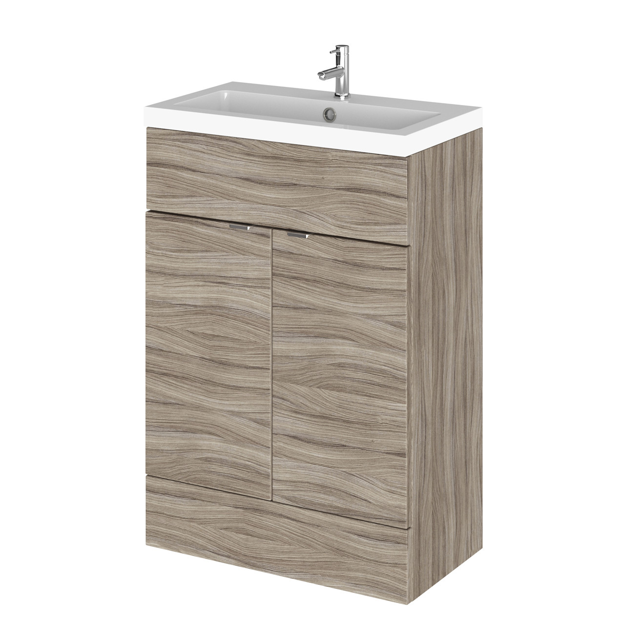 Hudson Reed Driftwood 600mm Full Depth Vanity Unit with Basin ...