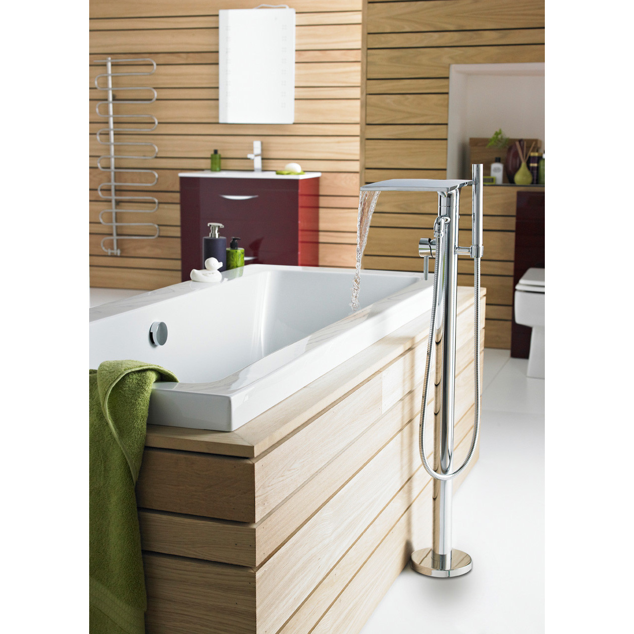 Hudson Reed Freestanding Bath and Shower Mixer - TFR362
