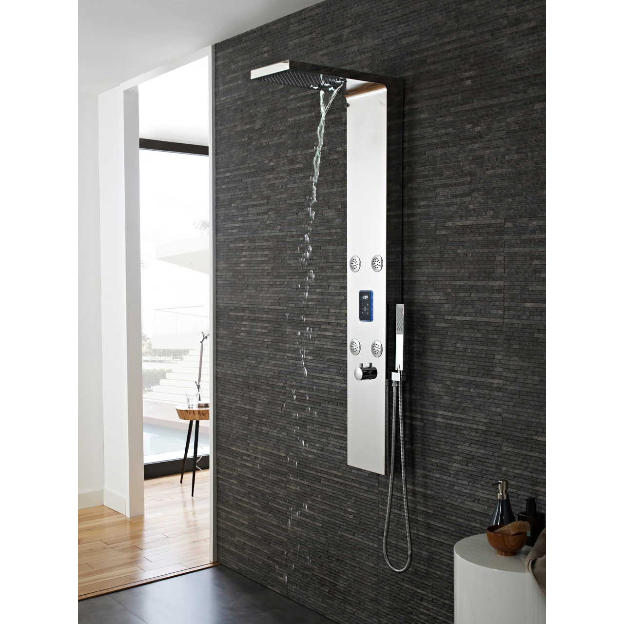 Hudson Reed Genie LED Thermostatic Shower Panel - AS361