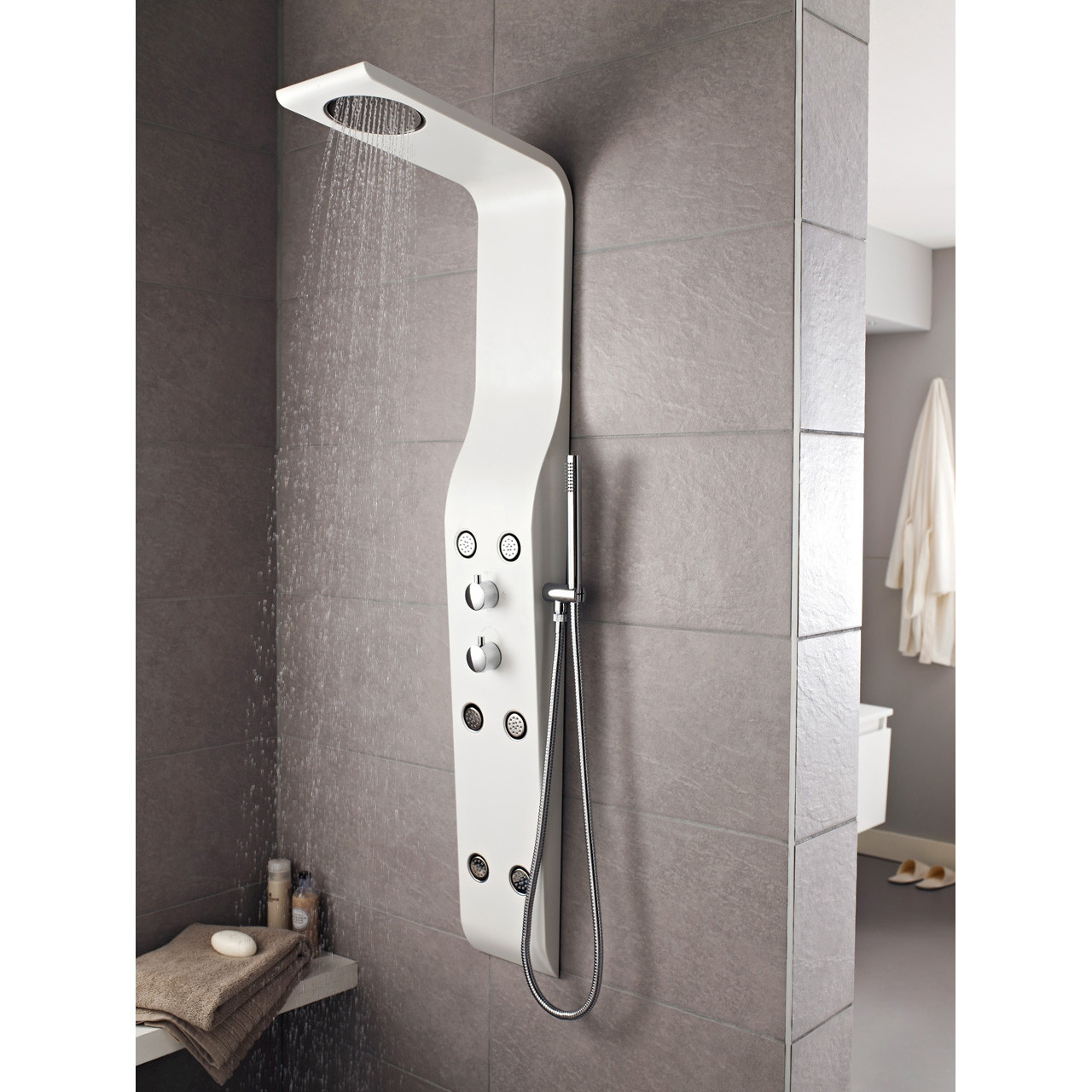 Hudson Reed Glacier Thermostatic Shower Panel - AS211