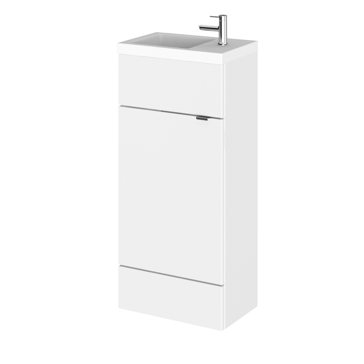 Hudson Reed Gloss White 400mm Compact Vanity Unit with Basin - CBI121