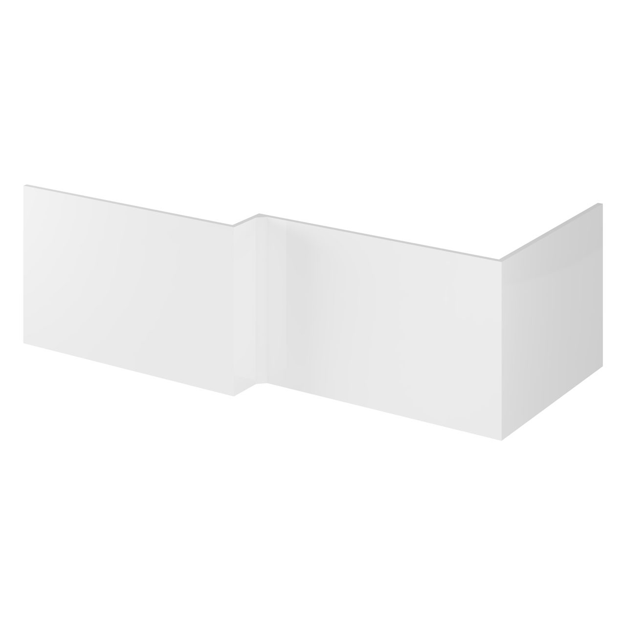 Hudson Reed Gloss White 700mm Square Shower Bath End Panel - OFF179