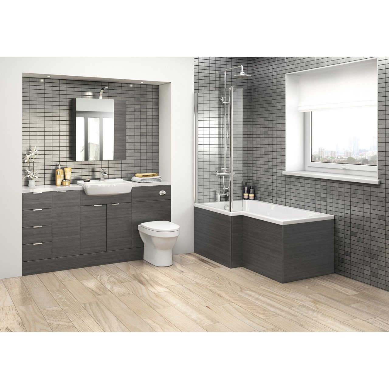Hudson Reed Hacienda Black 500mm WC Unit - OFF646