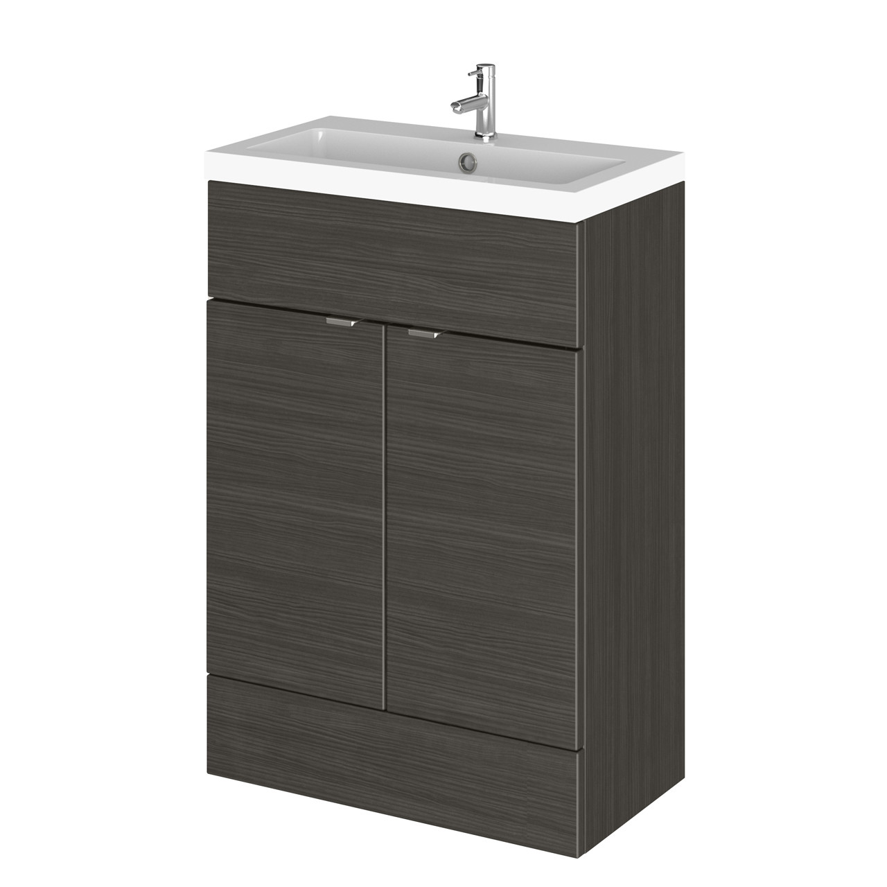 Hudson Reed Hacienda Black 600mm Full Depth Vanity Unit with Basin - CBI607