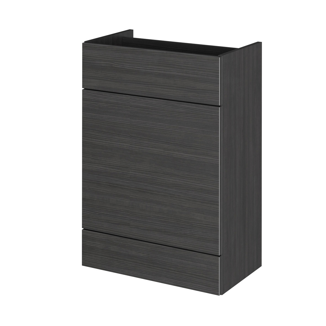 Hudson Reed Hacienda Black 600mm WC Unit - OFF648