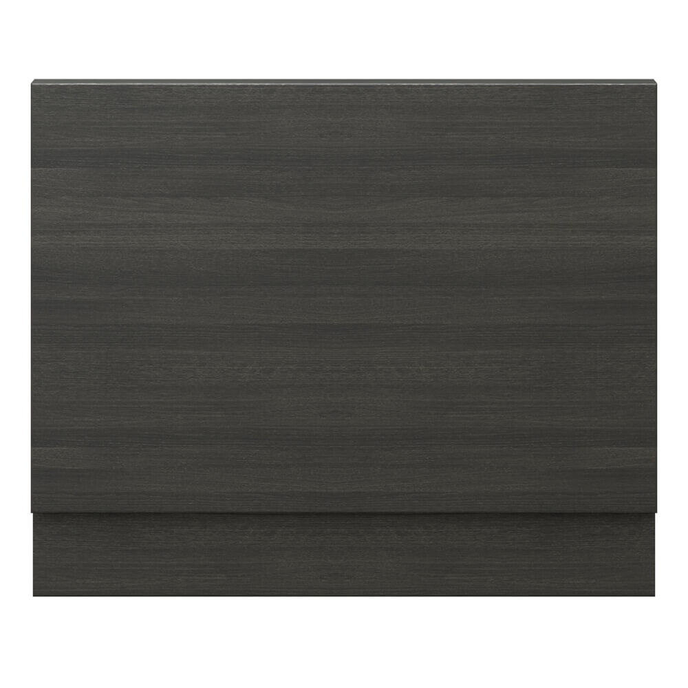 Hudson Reed Hacienda Black 750mm End Bath Panel with Plinth - OFF671