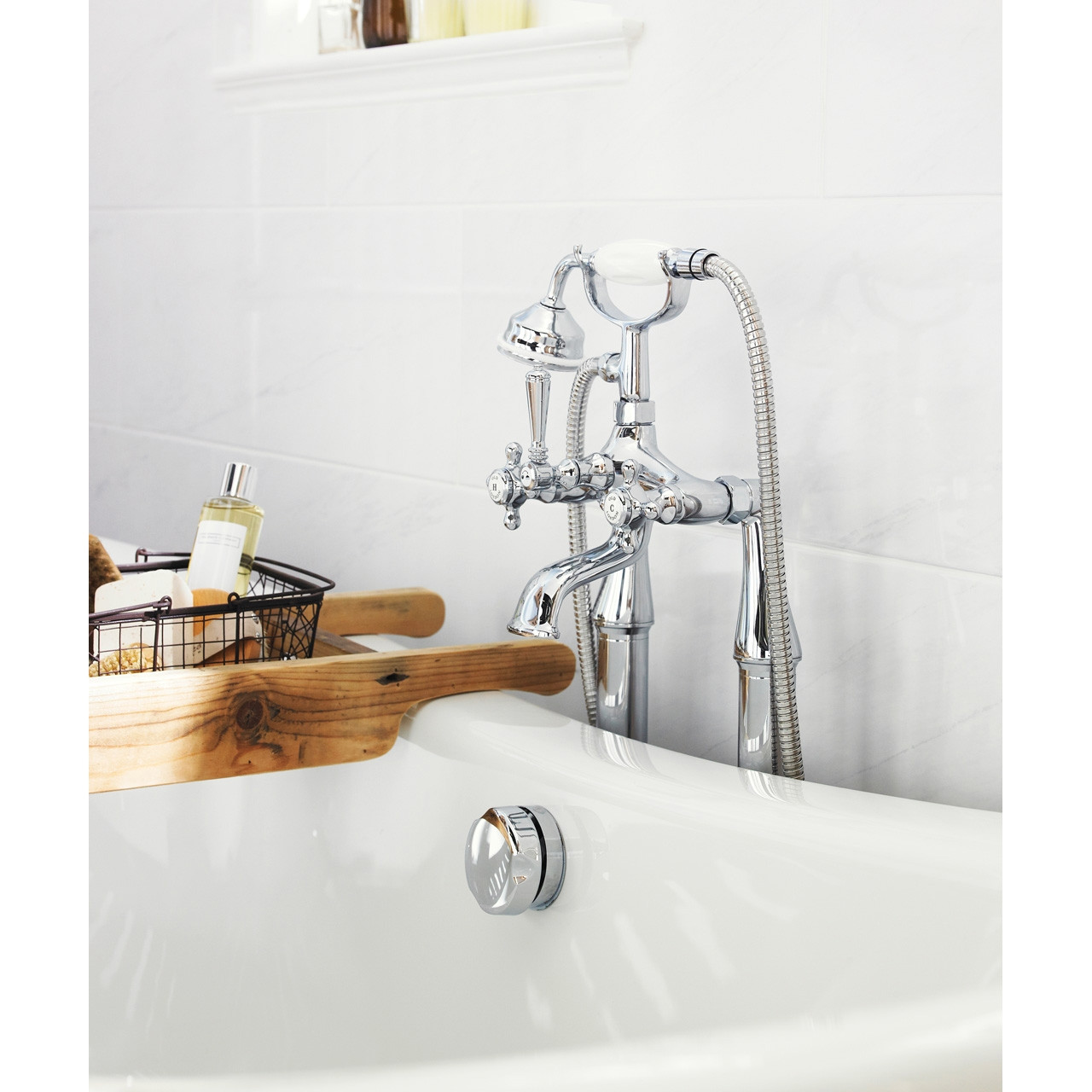 Hudson Reed Jade Bath and Shower Mixer with Shower Kit - BD304