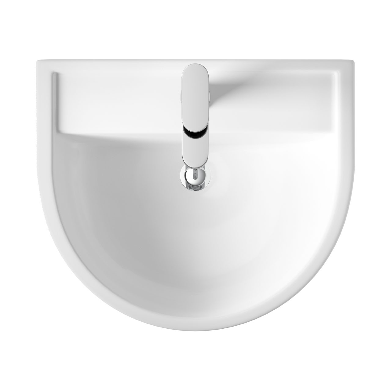 Hudson Reed Luna 520mm Basin with 1 Tap Hole and Full Pedestal - CMA003
