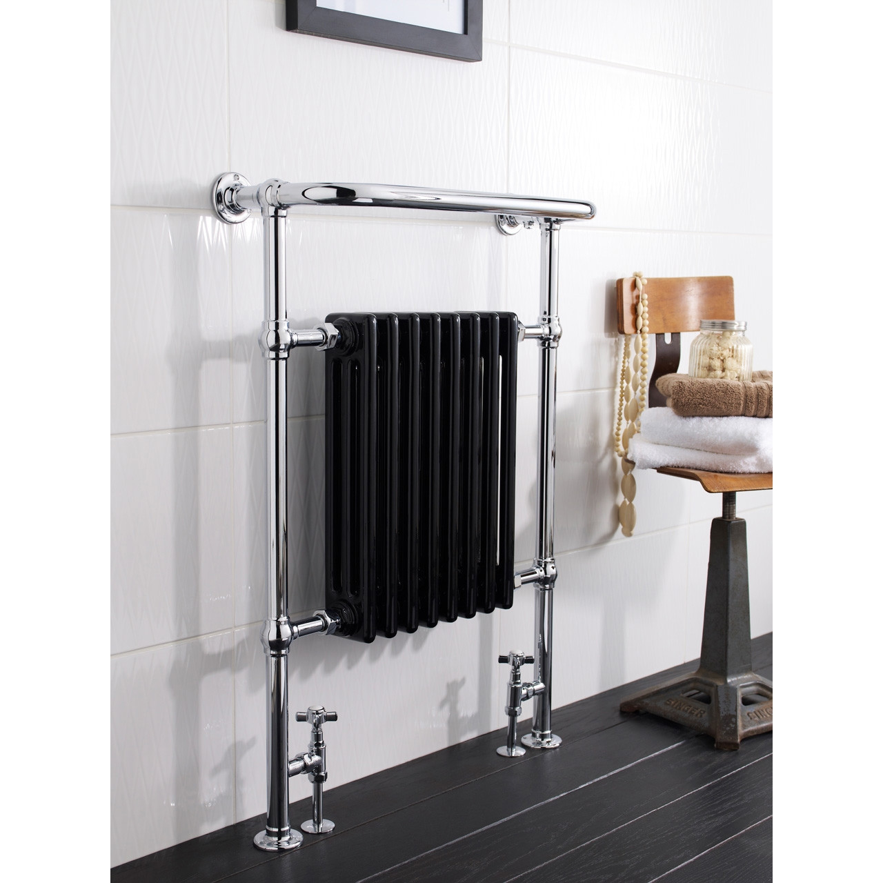 Hudson Reed Marquis Radiator Complete with Black Insert 960mm x 665mm - HT702
