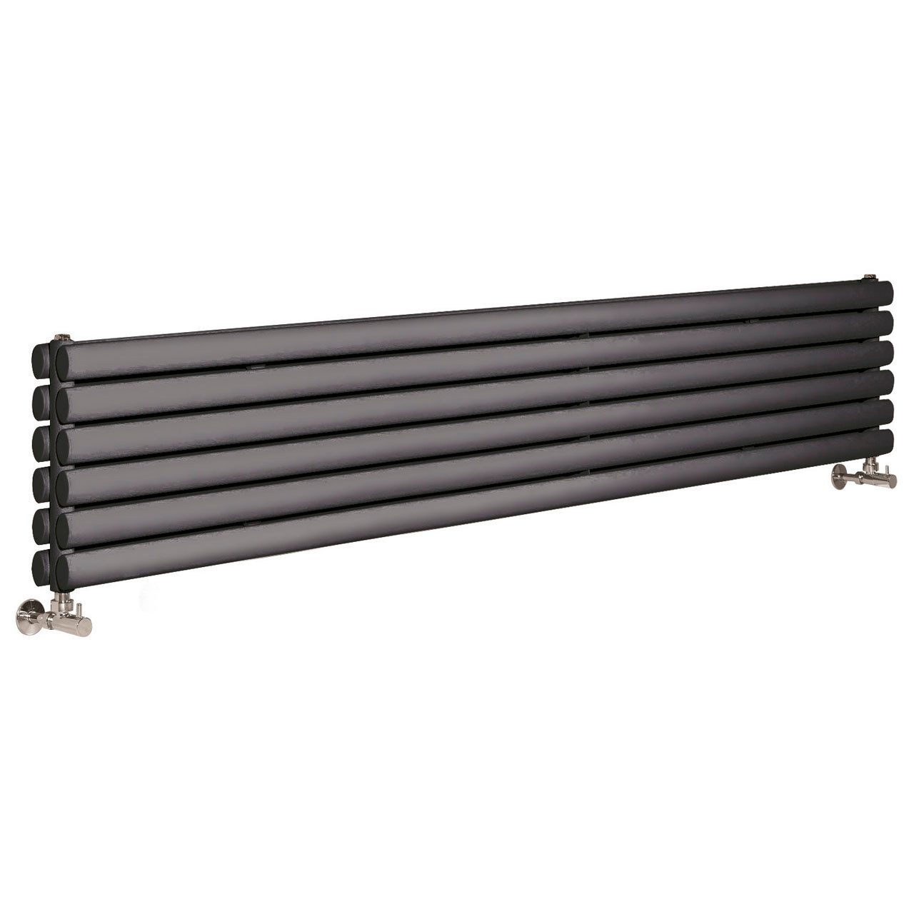 Hudson Reed Revive Anthracite 1800mm x 354mm Horizontal Double Panel Radiator - HLA77H