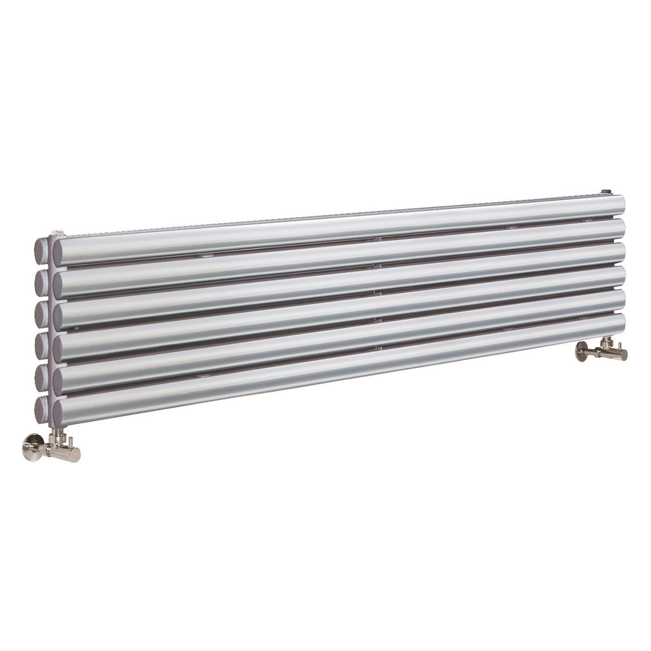 Hudson Reed Revive Gloss Silver 1500mm x 354mm Horizontal Double Panel Radiator - HLS86H