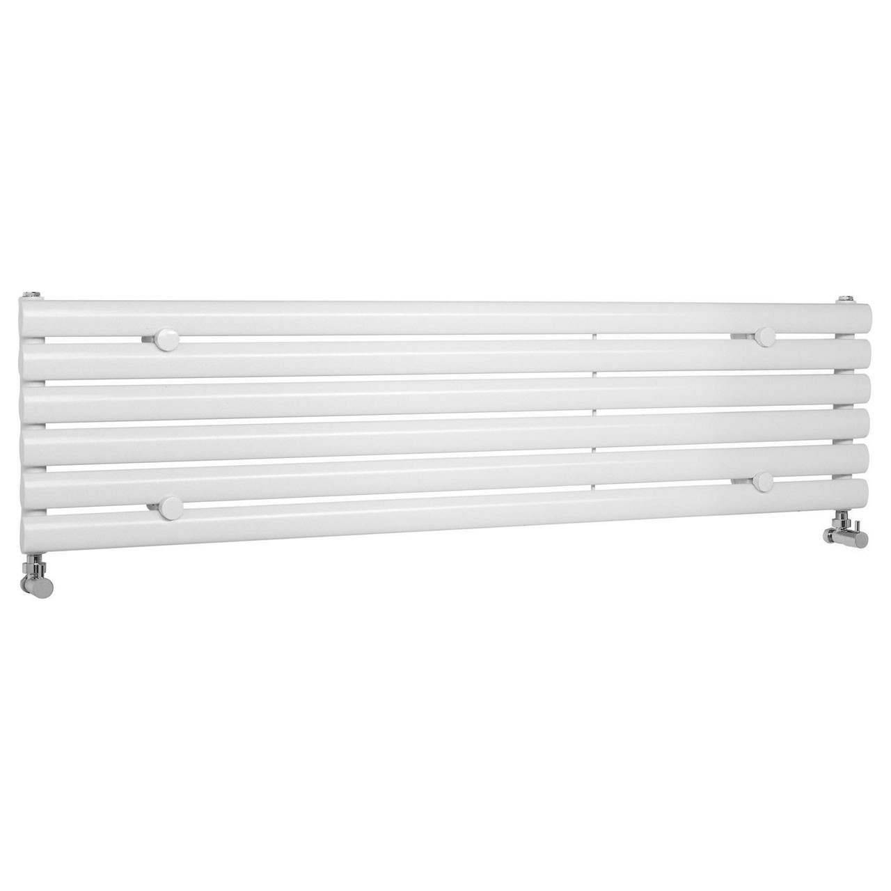 Hudson Reed Revive Gloss White 1500mm x 354mm Horizontal Single Panel Radiator - HL367H