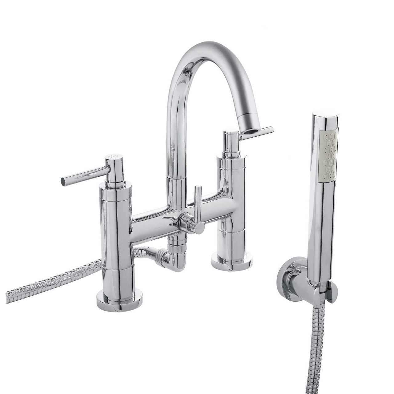 Hudson Reed Tec Lever Bath and Shower Mixer with Swivel Spout and Kit - TEL354