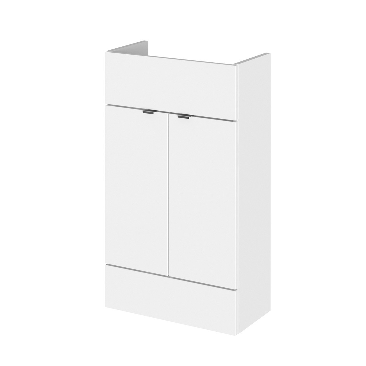 Hudson Reed White Gloss 500mm Compact Vanity Unit - OFF105