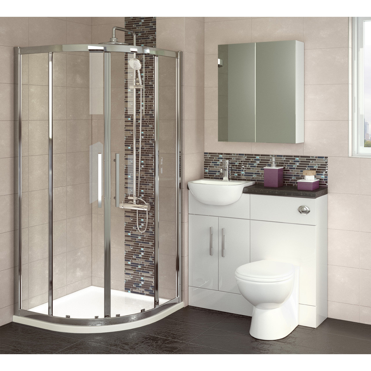 Hudson Reed White Gloss 600mm WC Unit - OFF148