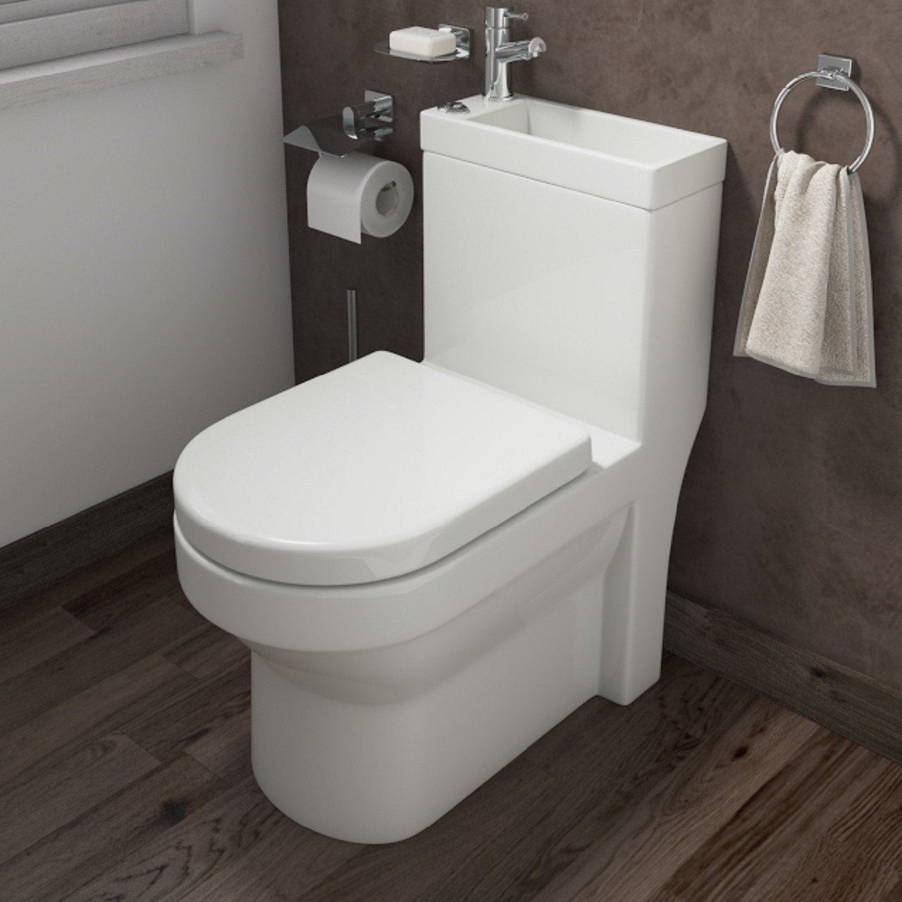 Ideal 2 In 1 Combination WC & Basin Inc Tap