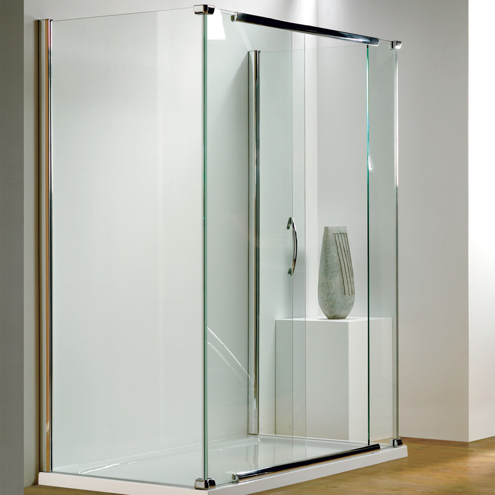 Kudos Infinite Semi-Frameless Bi-Slider Side Access 1700mm Silver