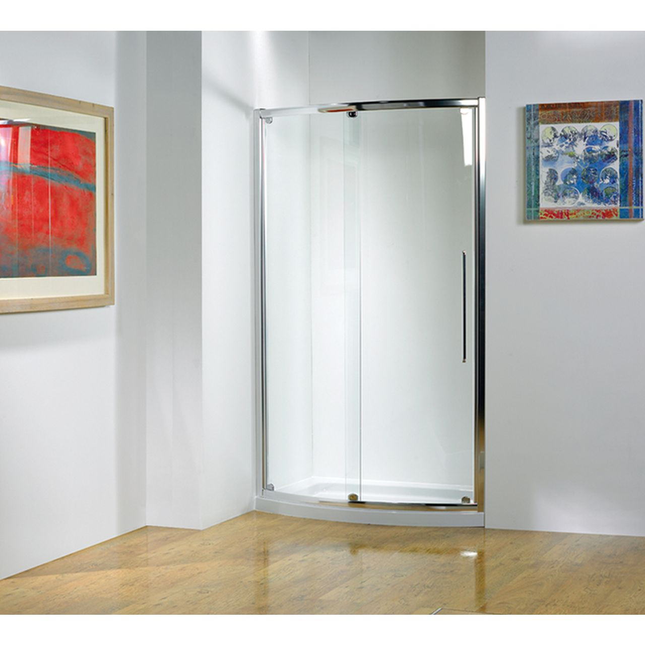 Kudos Original 1700mm Bowed Sliding Shower Door - 3BOWS170S