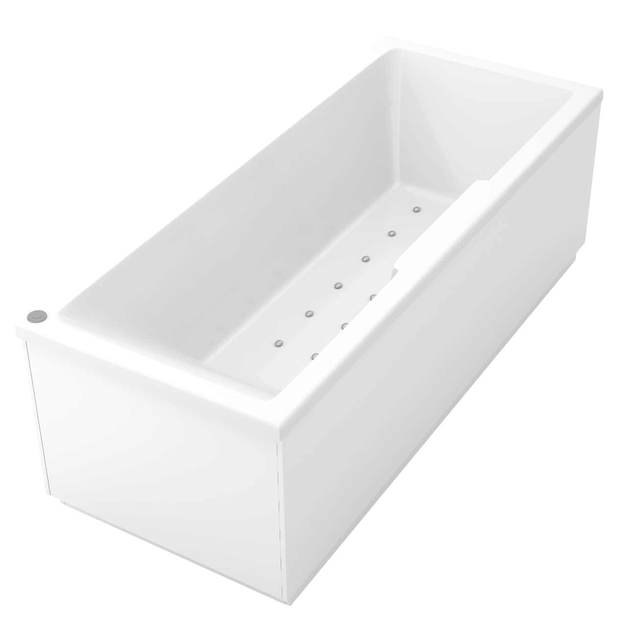 Legend Left Hand 12 Jet Easifit Spa Whirlpool Bath 1700x700mm