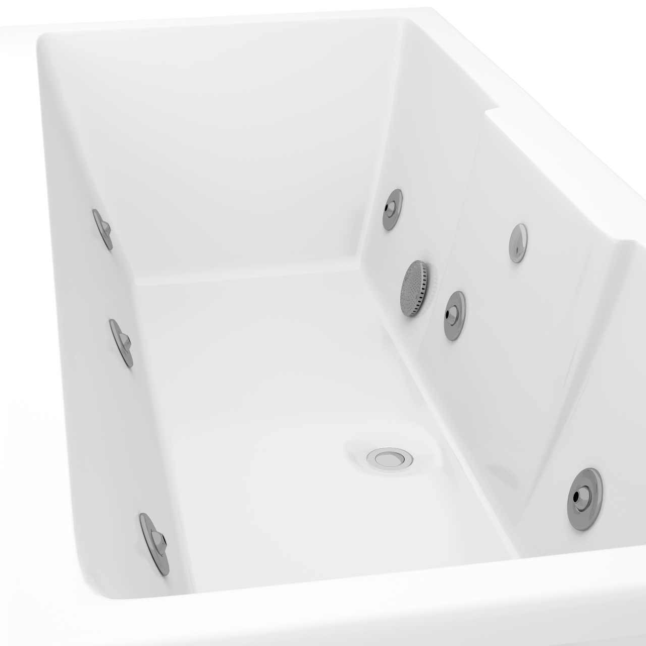 Legend Left Hand 6 Jet Chrome V-Tec Whirlpool Bath 1600x700mm