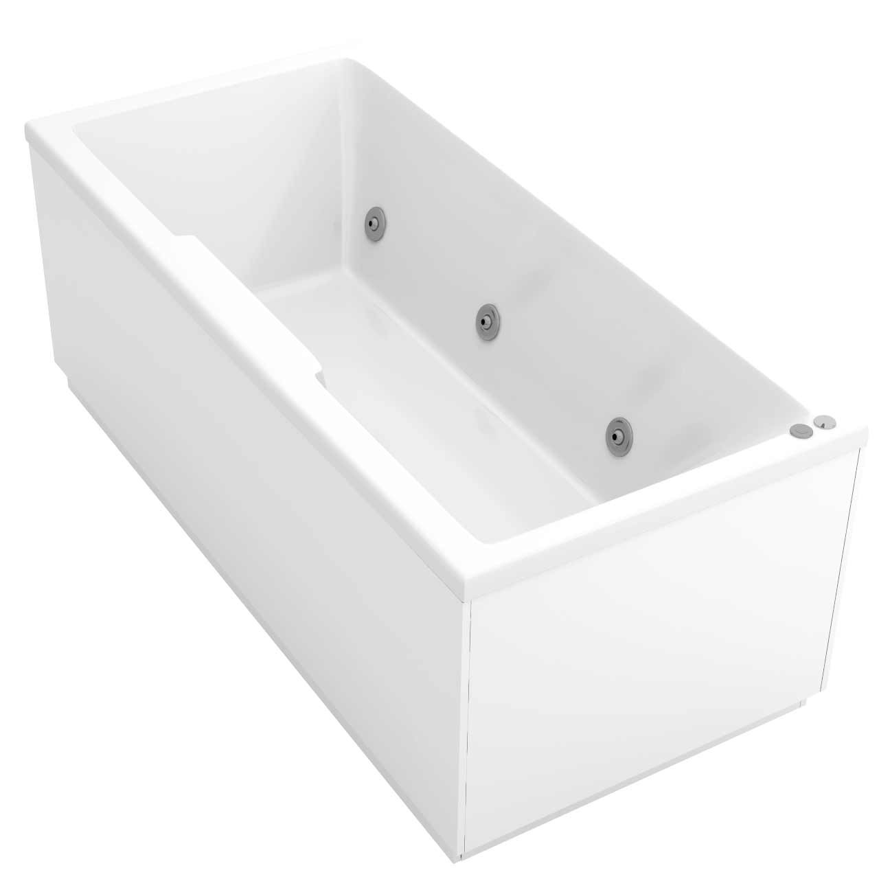 Legend Right Hand 6 Jet Chrome V-Tec Whirlpool Bath 1500x700mm