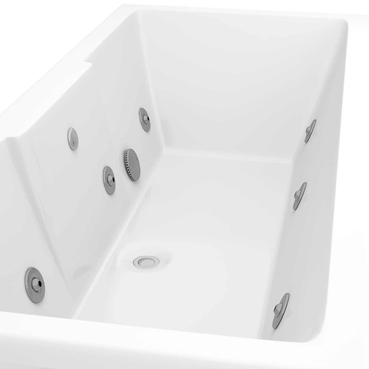 Legend Right Hand 6 Jet Chrome V-Tec Whirlpool Bath 1600x700mm