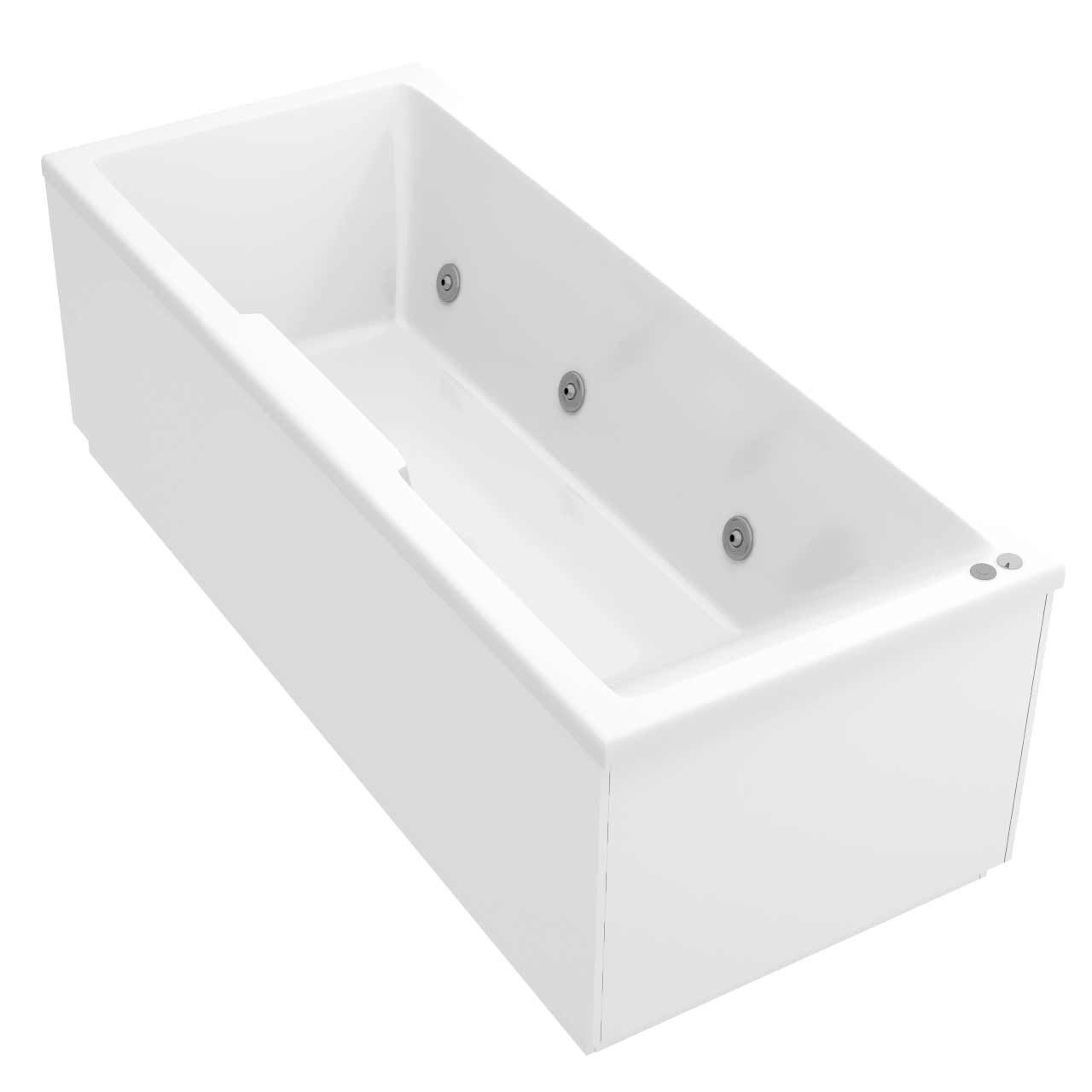 Legend Right Hand 6 Jet Chrome V-Tec Whirlpool Bath 1700x700mm